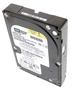 Western Digital 320GB – 7200rpm – 8MB cache – SATA